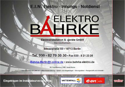 Kostenloser energie check bei bahrke elektroinstallation und ger te gmbh 10713 berlin - Kastenfenster sanieren berlin ...